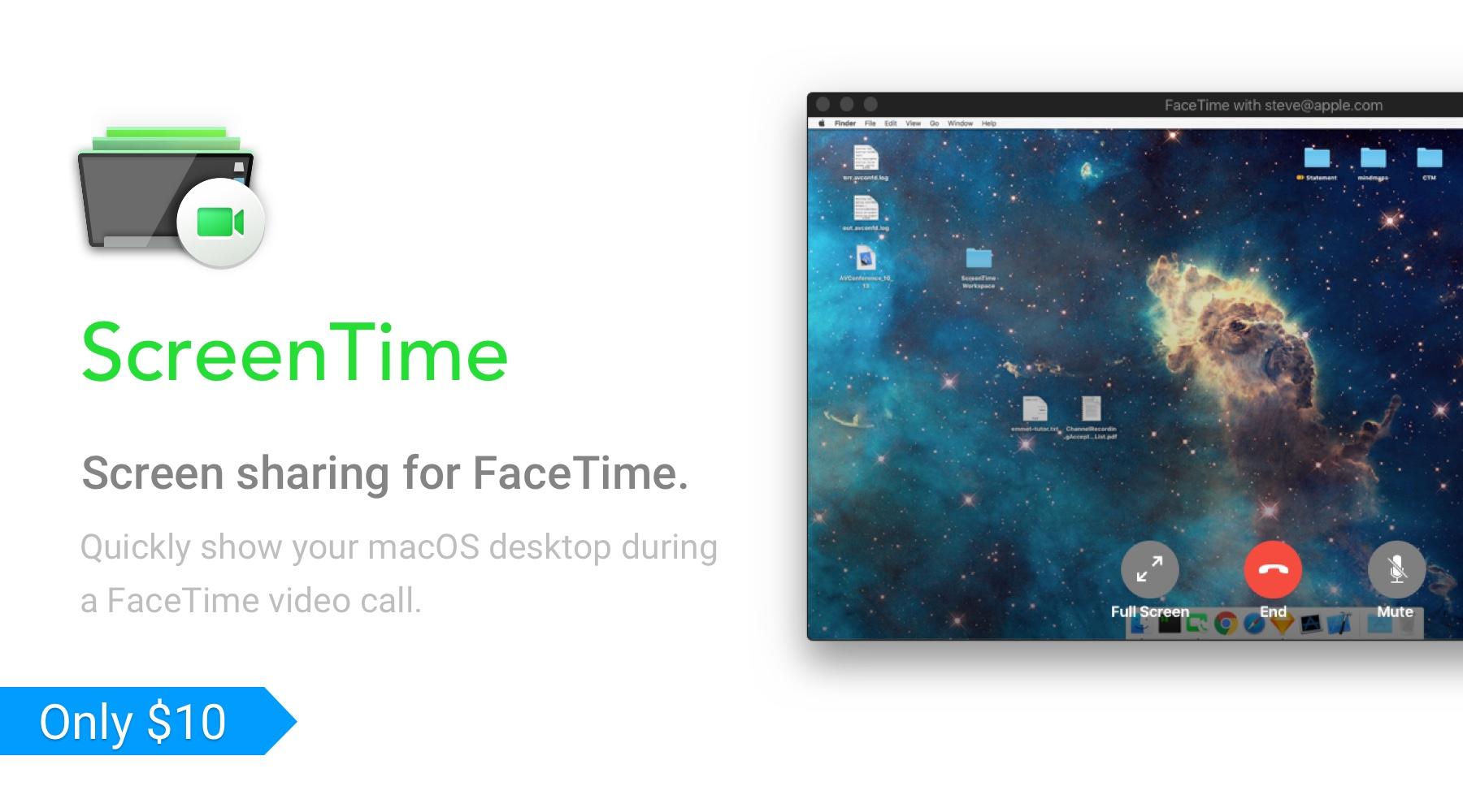 ScreenTime - Screen sharing plugin for FaceTime